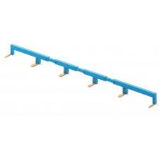 6-полюсный шинный соединитель синий