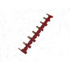 8-полюсный шинный соединитель красный