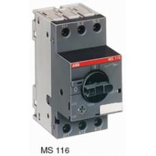 Автоматический выключатель MS116-0.25 50 кА с регулир. тепловой защитой 0,16A-0,25А Класс тепл. расцепит. 10