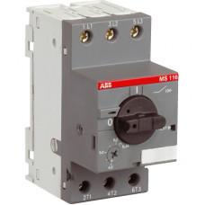 Автоматический выключатель MS116-25 10кА с регулир. тепловой защитой 20A-25А Класс тепл. расцепит. 10