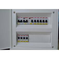 Электрощит для однокомнатной квартиры. Ввод ~380В. ABB