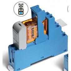 Интерфейсный модуль, электромеханическое реле; 1CO 16A;  питание 230В AC; пластиковая клипса; LED + варистор