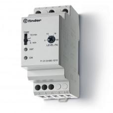Контрольное реле для 3-фазных сетей; пониженное/повышенное напряжение; настраиваемые симметричные диапазоны; выход 1CO 10А;