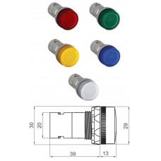 Лампа CL2-501Y желтая со встроенным светодиодом 12В DC