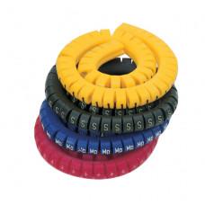 Маркировка кабеля (кольцо) KEB 2 (1,5…2,5 мм.кв.), без надписей, (белый),  (уп. 500 шт.)