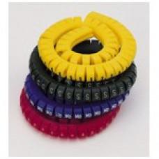 """Маркировка кабеля (кольцо) KG1  (0,75...4 мм.кв.), """" . """"  (уп. 100 шт.)"""