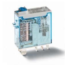 Миниатюрное промышленное электромеханическое реле;  2СO 8A;  катушка 110В DC; опции: кнопка тест + мех.индикатор