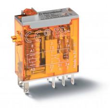 Миниатюрное промышленное электромеханическое реле;  2СO 8A;  катушка 230В АC;опции: кнопка тест + мех.индикатор