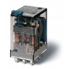 Миниатюрное универсальное электромеханическое реле;  3CO 10A;  катушка 110В АC;опции: кнопка тест + LED