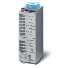 Миниатюрный мультифункциональный таймер (AI, DI, SW, GI);  питание 12В АС/DC; 2CO 10A; регулировка времени 0.05с…100ч;