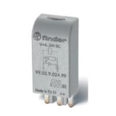 Модуль индикации и защиты (син); зеленый LED + варистор; 6...24В AC/DC