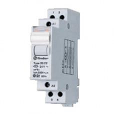 Модульное электромеханическое шаговое реле; 1NC+1NO 16А, 2 состояния;  питание 24В АC;