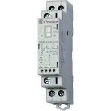 Модульный контактор; 2NC 25А; катушка 12В АС/DC;  опции: мех.индикатор + LED