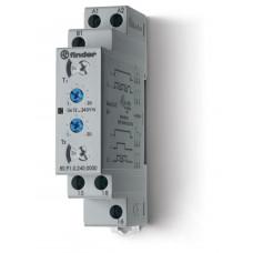 Модульный таймер 2-функциональный (LI, LE); питание 24…240В АС/DC; 1CO 16A;регулировка времени 0.1с…24ч;