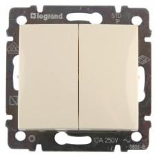 Переключатель Legrand Valena  2напр 2-х клавишный (слоновая кость)   774308