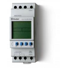 Реле Finder времени Цифровое недельное 1СO 16A; питание 12В АC/DC