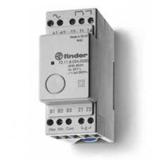 Реле контроля уровня; фиксированный диапазон чувствительности 150кОм; питание 24В DC; выход 1CO 16А; модульное,