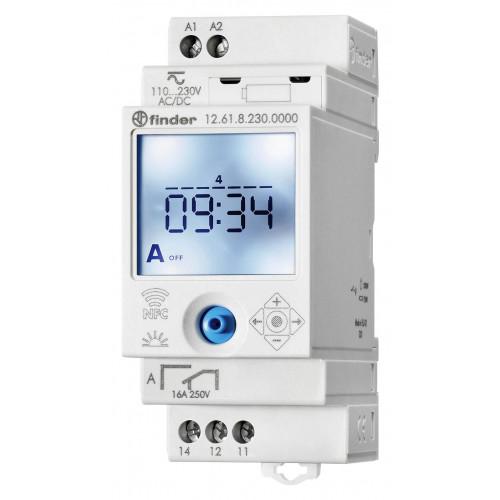 Реле времени цифровое недельное; монтаж на рейку 35мм; 1СO 16A; питание 110…230B AC/DC; NFC; 126182300000