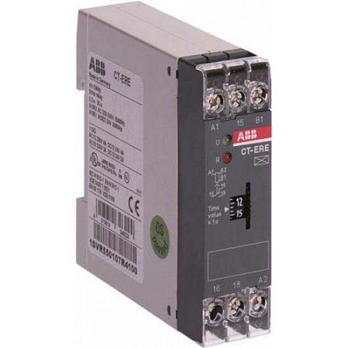 Реле времени CT-ERE (задержка на включ.) 24В AC/DC, 220-240В AC (временной диапазон 0.3..30мин.) 1ПК 1SVR550107R5100