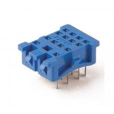 Розетка для монтажа на панель под пайку для реле 55.32, 55.34; в комплекте металлическая клипса 094.51