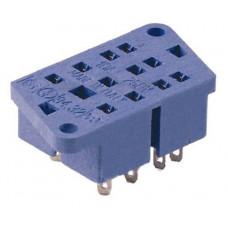 Розетка для монтажа на панель под пайку для реле 55.32; монтажный в комплекте металлическая клипса 094.51