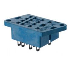 Розетка для монтажа на панель под пайку для реле 55.33; монтажный в комплекте металлическая клипса 094.51