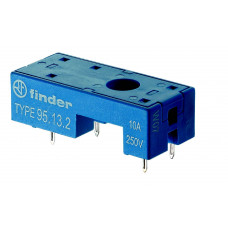 Розетка для монтажа на плате для реле 41.31; в комплекте металлическая клипса 095.41.3; версия: синий цвет