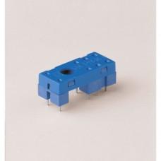 Розетка для монтажа на плате для реле 41.52, 41.61, 41.81; в комплекте металлическая клипса 095.41.3; версия: синий цвет