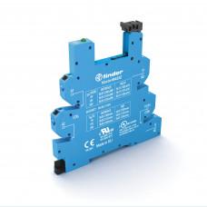 Розетка MasterBASIC с безвинтовыми клеммами Push-in для реле 34 серии; питание 24В DC; в комплекте пластиковая клипса; опции: LED