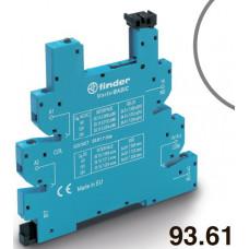 Розетка MasterBASIC с винтовыми клеммами (с зажимной клетью) для реле 34 серии; питание 230В АС; в комплекте пластиковая клипса; опции: LED