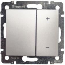 Светорегулятор (диммер) Legrand Valena  кнопочный 400Вт (алюминий)   770262