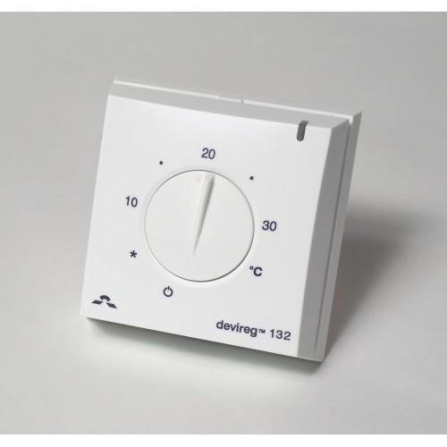 Терморегулятор Devireg D132, IP30, открытого монтажа (с датчиком пола и воздуха) 140F1011 140F1011