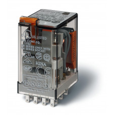 Миниатюрное универсальное электромеханическое реле; 3CO 10A;  катушка 12В АC;
