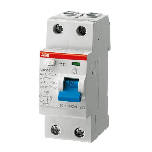 Выключатель дифференциального тока 2мод. F202 AC-40/0,03 2CSF202001R1400