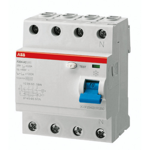 Выключатель дифференциального тока 4мод. F204 A-40/0,5 2CSF204101R4400